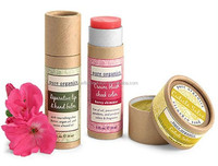 Eco friendly paper tube for lip balm packaging empty paper lipstick container cosmetic paper tube for lip balm