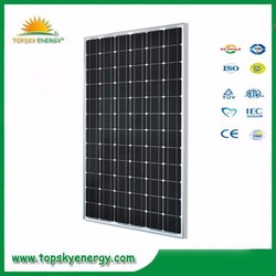185W-210w 72pcs 125*125mm 36.6V-37V 5.05-5.27A mono grade A best prices per watt of solar panel made in China,190W195W,200w,205w