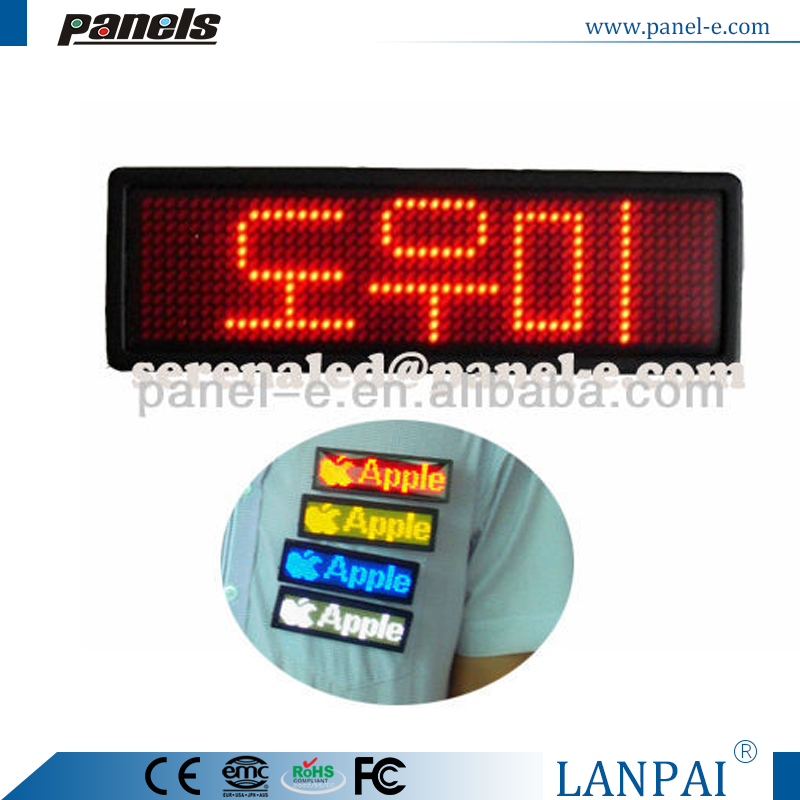 LANPAI 5 color in all Programme led badge board, software edit LED Name Tag