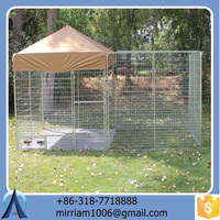 Popular eco-friendly and stocked high quality new design large outdoor beautiful dog cages/kennels/pet houses