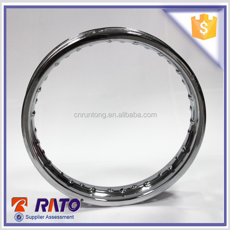Motorcycle 1.6*14 chrome plated steel rims motorcycle rims cheap