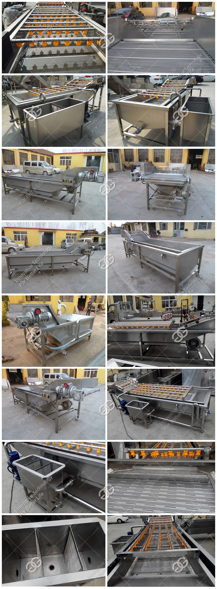 Wide Application Green Vegetables Pear Bubble Cleaning Equipment Industrial Fruit Washing Machine