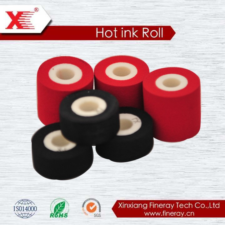 XJ black hot ink roller for MY380 coding machine rubber hot ink roller foam