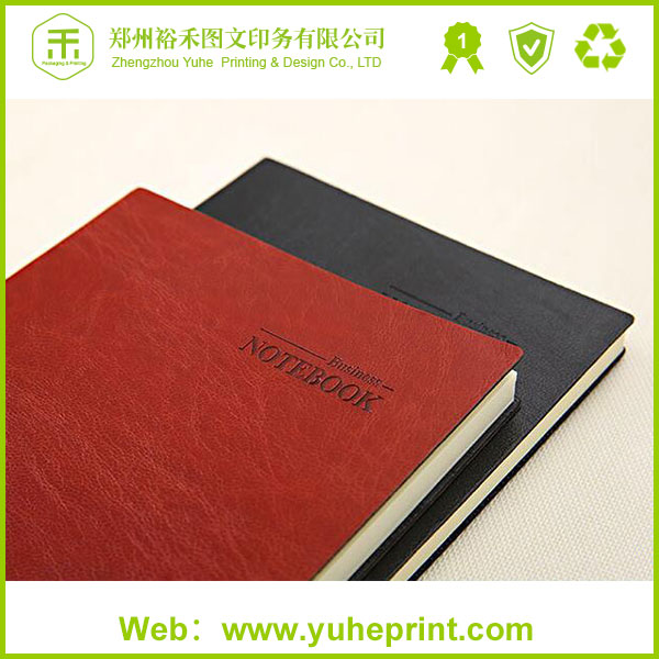 Affordable free sample uncoated paper company office leather cover planner printing