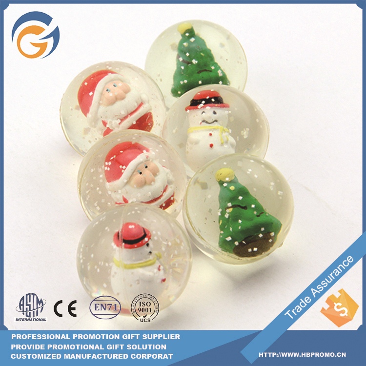 Christmas Style Bouncing Ball for Wholesale Vending Bouncy Ball