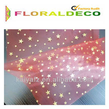 twinkling stars bronzed organza for decoration