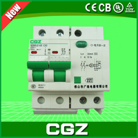GZ47LE-100 series miniature circuit breaker(MCB) with 2 poles