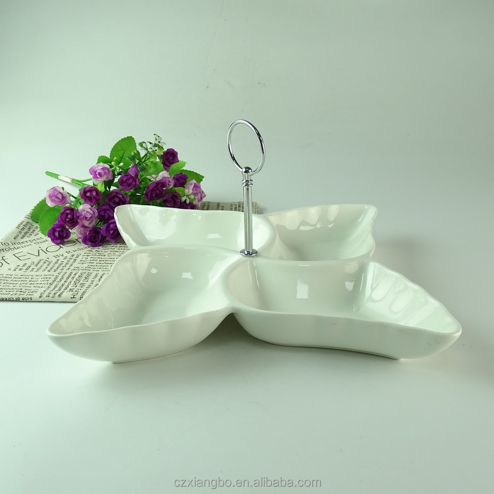 wholesale cheap ceramic cake dinner plate with stand
