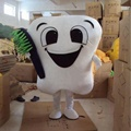 White tooth mascot costume for adult
