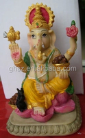 Guo hao hot sale custom polyresin hindu goddess statue , 3d hindu god figurines