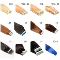 7A Cheap Wholesale 100% European Hair Double Drawn Tape Hair Extensions In stock Free Sample Free Shipping