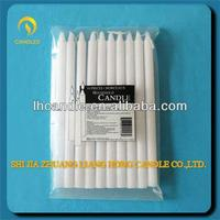 wholesale white paraffin wax and stearic acid household pillar candles in bulk