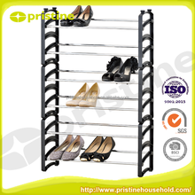 Professional Manufacturer new design metal 50 pair shoe rack
