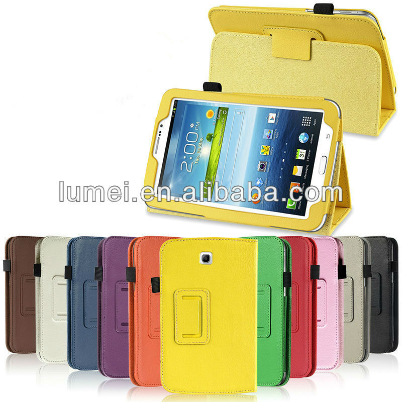 Hot Sale Folio PU Leather Case Cover Stand For Samsung Galaxy Tab 3 7.0 inch Tablet P3200 p3210