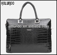 Wholesale genuine crocodile cheap leather laptop bags