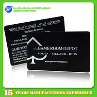 Custom pvc printed silver/gold foil business cards with low cost