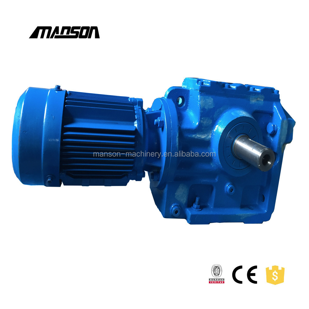 S Series Cylindrical Crown Gearbox Right Angle Gear Reducer With Motor