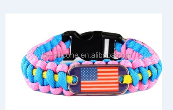 Custom 3 Color cord Bracelet with Buckle Instructions