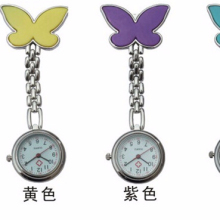 Pocket Medical Nurse Fob Watch Women Watches Clip-on Pendant Hanging Quartz Clock Butterfly Shape