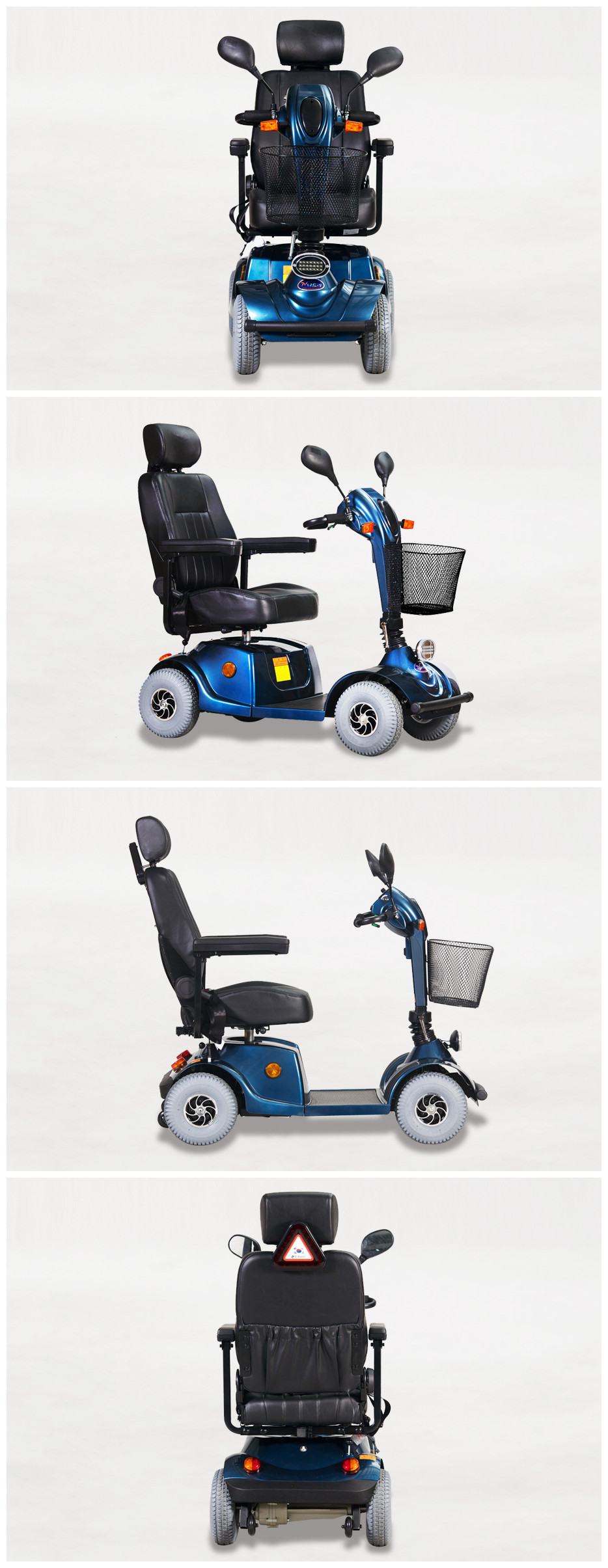 handicaped electric scooter for disabled man social life