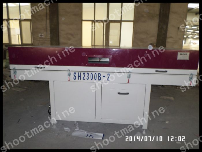 Vacuum Membrane Pressing Machine SH2300B-2 with Working table size 2600x1100mm and Total power 20KW