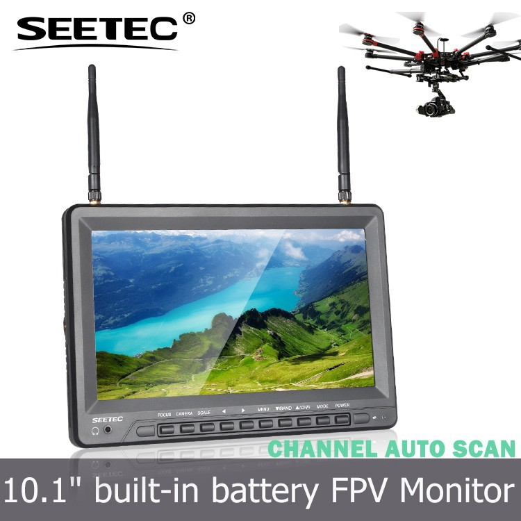10.1 inch battery powered fpv monitor sunlight readable 5.8ghz receivers 32 channels rc small helicopter motor