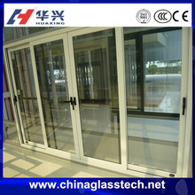 Soundproof/sound insulation double glzaed glass durable thermal break/normal sliding aluminum glass door price