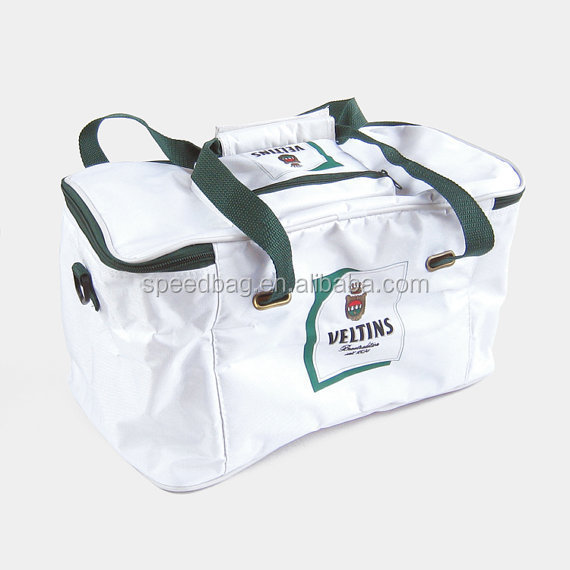 Wholesale custom logo woven cooler bag for bottles