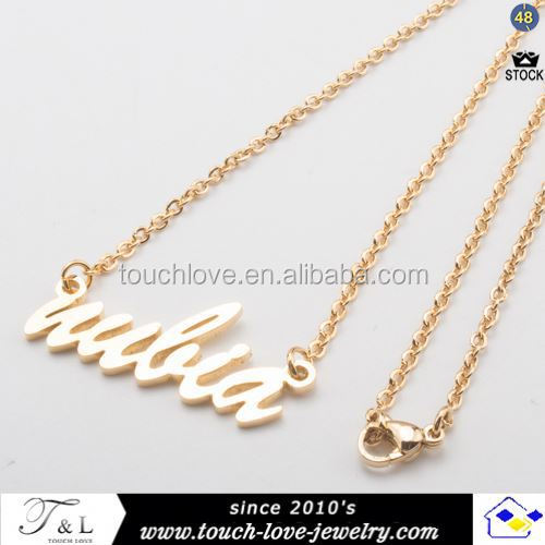 wholesale stainless steel necklace personalised necklace