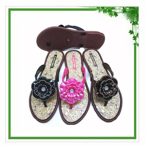 Women's pvc jelly clear crystal sandals
