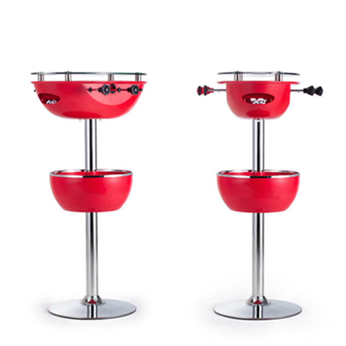 Patented Icy table Portable Bar Table with foosball game
