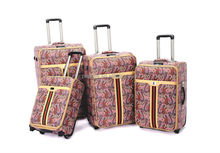 New urban design eminent PU leather ladies travel bag trolley luggage