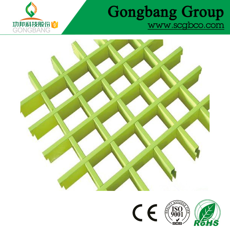 wall decorative panel green composite grid grate aluminum ceiling tile for airport