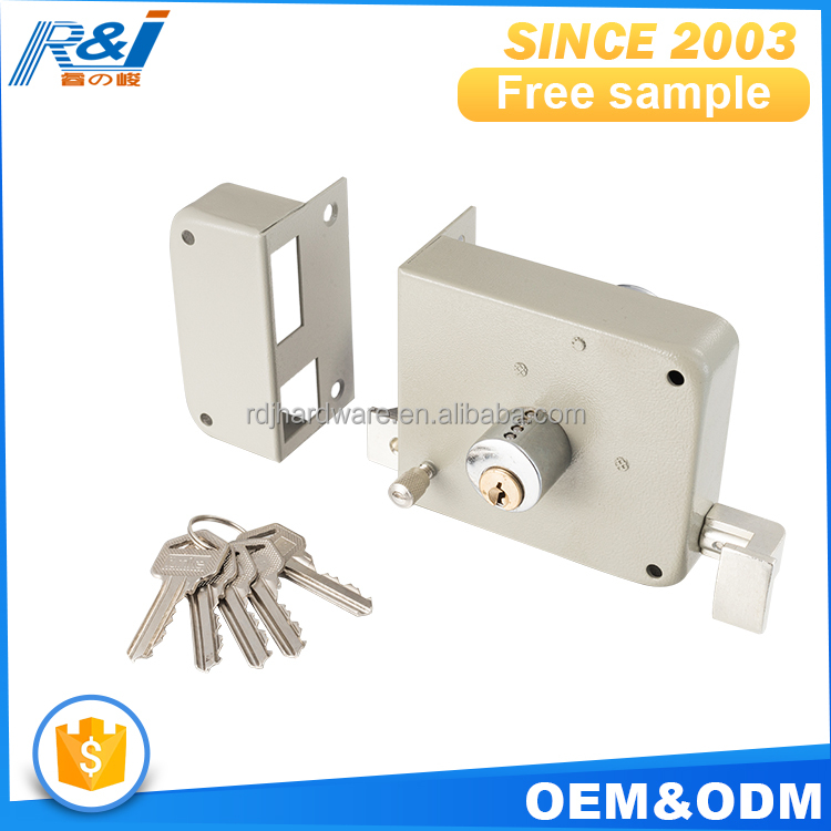 Factory price MOQ=100pcs free sample rim door lock system