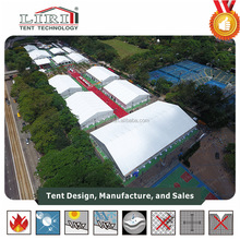 comericial wedding 30x30 hexagon marquee tents with curtain ceiling in India