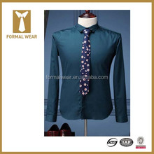 Unique Style Classic Collar Long Sleeve Best Men Dress Shirt Brands