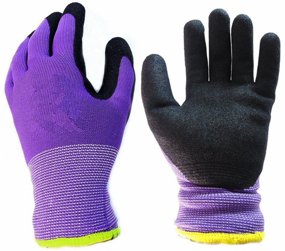 Water Oil Proof Sandy Nitrile Coated Glove Winter Warm Gloves for Auto Industry