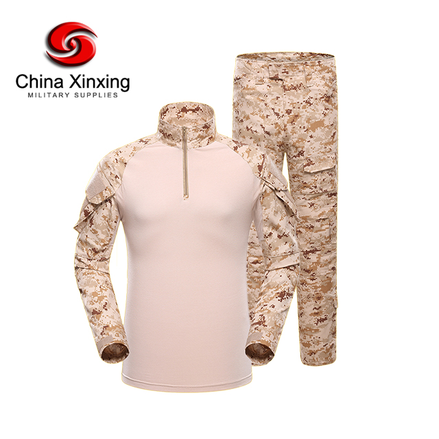 Military SWAT Special Security Staff Uniform Waterproof Combat Army Frog Camouflage Ripstop Tactical Uniform with Pads