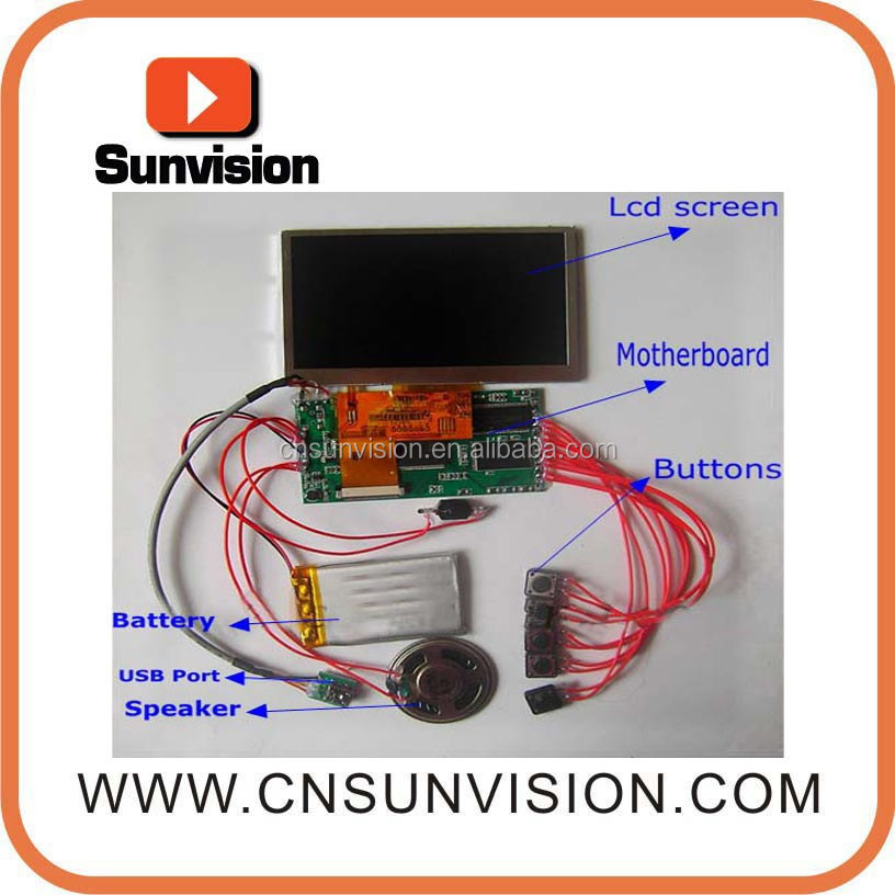 2.4 inch LCD display electronic video modules for Christmas party invitation video greeting cards