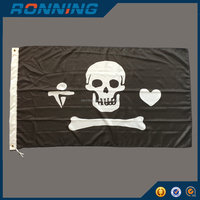 Cheap Polyester Pirate Flags