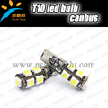 DC12V 180lm T10/W5W 194 168 192 CANBUS 9 SMD 5050 Led light lamp for car accessories interior lamp reading lamp