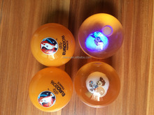 Rubber Colorful Led Flashing Light Bounce Ball with Logo Printing Custom