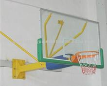 Wall-mounted basketball system/stand with tempered glass