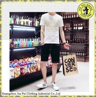 Wholesale summer new men's fashion casual short-sleeved cotton white t-shirt