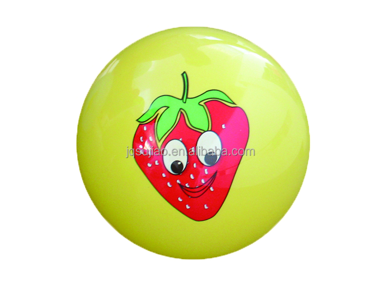 non-phthalate toys fruit smell sticker pvc ball /perfume pvc ball