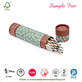 Printed Logo Paper Pencils Cylinder Packaging
