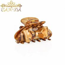High quality caramel colour fancy baby hair clip hair clips acetate