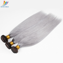 wholesale silver grey ombre hair extensions for 100% indian human hair weave