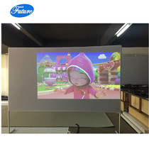 120inch 16:9 Indoor / Outdoor Portable Movie Projector Screen White Cloth Material