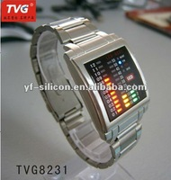 Creative fashion Stainless steel or alloy LED Watch
